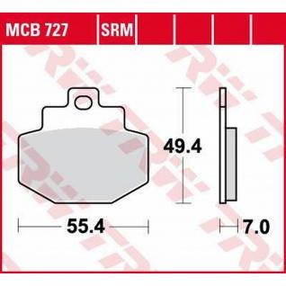 MCB727 Bremsbelag Benelli Adica Piaggio GTX Super Hexagon Vespa GT GTS GTV 00-