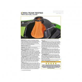 Twin Air Fuel Filter Suzuki RMZ 250 Suzuki RMZ 450 12-16