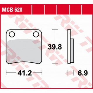 MCB620 Bremsbelag