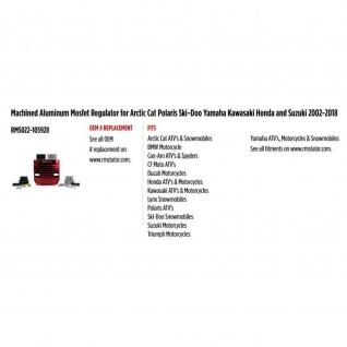 Mosfet Regulator Red Machined Aluminum for Arctic Cat Polaris Ski-Doo Yamaha Kawasaki Honda Suzuki 02-18