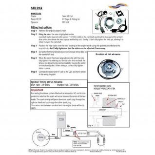 STK-012 - Self generating internal rotor kit (twin spark plug) Triumph 3TA 5TA BSA A65 Royal Enfield Interceptor