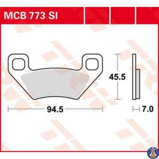 MCB773SI Bremsbelag Arctic Cat Kymco Massey Ferguson