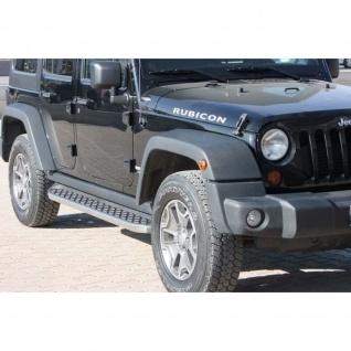 Trittbretter Jeep Wrangler Unlimited ab Baujahr 2007 Model Hitit in Schwarz mit TÜV und ABE