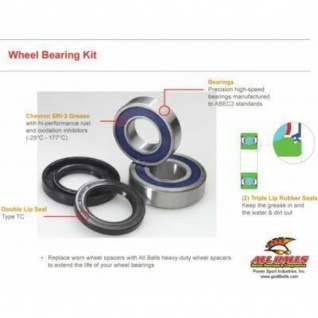 Rad Lager und Dichtungen kpl. Satz Wheel Bearing - Kawasaki KL600 84-86, KL650 B (KLR) 90-91, KX250 82-83