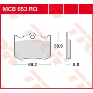 MCB653RQ Bremsbelag