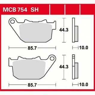MCB754SH Bremsbelag Harley 883 Sportster 1200 Nightster XR