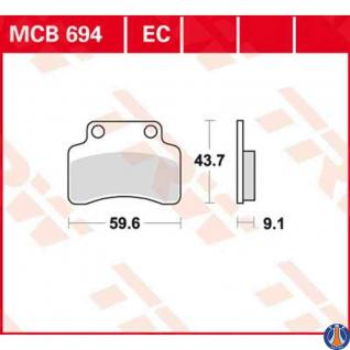 MCB694EC Bremsbelag ATU Baotian Beeline Benelli Cagiva CPI Garelli Generic Keeway Kymco Sachs