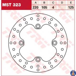 MST323 Bremsscheibe starr Honda 250 400 600 XR TRX 400 Kawasaki KFX 400 Suzuki LTZ 400