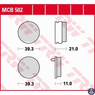MCB502 Bremsbelag Honda 125 CB - T CB125T 80-86 vorne