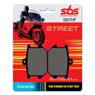 Bremsbelag SBS 507HF Street Ceramic Yamaha SR 500 TR1 XJ650 Maxim XS250 360 400 650 750 850 1100