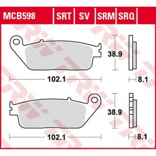 MCB598 Bremsbelag Cagiva Daelim Honda Kawasaki Kymco Peugeot Suzuki Triumph Yamaha