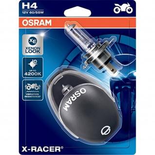 X-RACER® H4 Doppelblister H4 ECE 12 Volt 60/55 Watt P43t Sockel Ablendlicht/Fernlicht