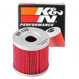 K&N Ölfilter KN-139 Arctic Cat Suzuki DR-Z400 S LT-Z 250 - 400 Kawasaki 52010-S004 16510-29F00 3470-008