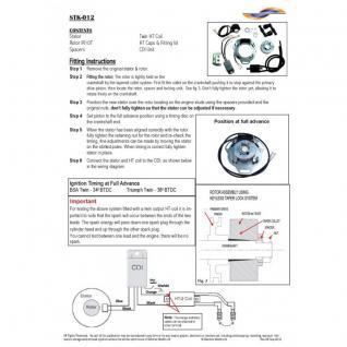 STK-012 - Self generating internal rotor kit (twin spark plug) Triumph: 3TA, 5TA BSA A65