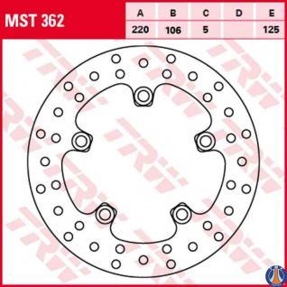MST362 Bremsscheibe starr Yamaha YZF R6 600 YZF R1 1000 03 -