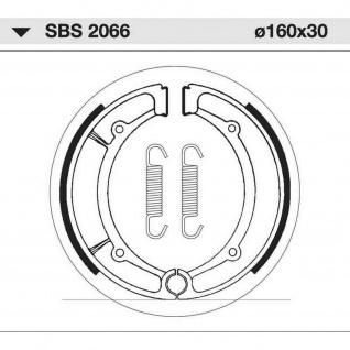 Bremsbacke SBS 2066 Maße: 160 x 30 MBK Skyliner 150 250 Sinnis 125 QM Yamaha 250 XS YP - Majesty Bruin Big Bear Grizzly Wolverine Kodiak