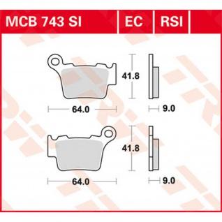 MCB743RSI Bremsbelag Sinter