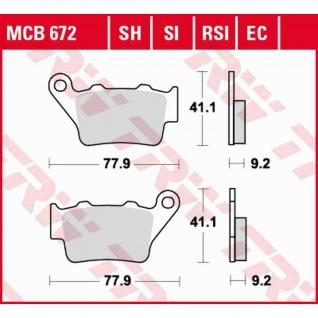 MCB672SH Bremsbelag Aprilia Beta BMW CCM CF-Moto Ducati Honda Husqvarna KTM Yamaha Zero