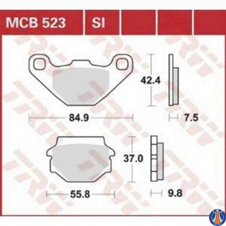 MCB523SI Bremsbelag Aeon Aprilia Barossa Derbi Gas Gas Husaberg Husqvarna Kawasaki KTM Polaris Quadzilla Suzuki TGB Yamaha