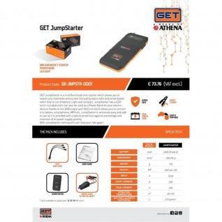 GET Jump Starter Portable emergency starter ATV PWC 12 Volt ( kein Diesel ) Powerbank Smartphone Taschenlampe