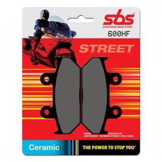 Bremsbelag SBS 600HF Street Ceramic