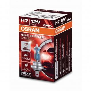 NIGHT BREAKER® LASER H7 Faltschachtel H7 ECE 12 Volt 55 Watt PX26d Sockel Abblendlicht/Fernlicht/Nebellicht