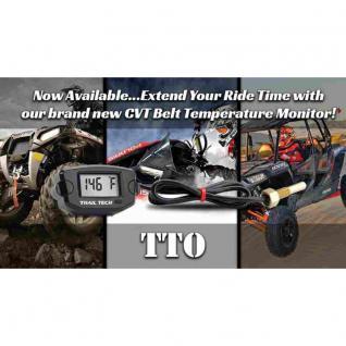 TTO Riemen Panel mount CVT Belt Temp Meter - Black universal für alle Riemen Fahrzeuge UTV, ATV Snowmobile Bikes