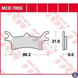 MCB798SI Bremsbelag Polaris 400 - 800 Sportsman 500 Scrambler 500 Magnum 02- hinten