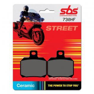 Bremsbelag SBS 730HF Street Ceramic Aprilia Benelli Bombardier Cagiva Derbi Ducati KTM Moto Guzzi MV Agusta Rieju Voxan