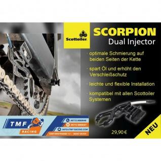 Scottoiler Scorpion Dual Injector - gleichmäßige Schmierung beider Seiten - Ideal für X-System V-System E-System