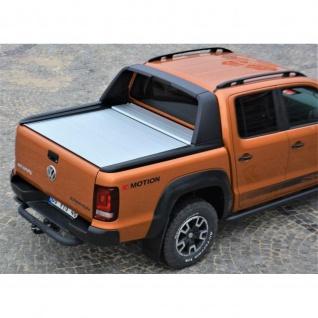 Laderaumabdeckung Roll Cap mit Trenngitter und Zentralverriegelung SET für VW Amarok Canyon Double Cab in Silber ab Baujahr 2010 - Vorschau 2