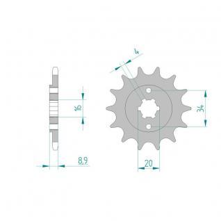 AFAM Ritzel Teilung 520 13 Zähne Yamaha TT-R 230 05-12 Yamaha FS 200 Blaster 13 Zähne