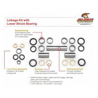 Dichtungs- und Lagersatz Federbeinumlenkung Suzuki DR650SE 96-14, XF650 FREEWIND (Euro) 97-01
