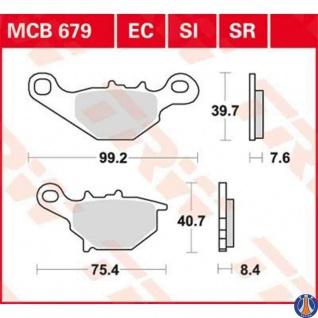 Mcb679si Bremsbelag Kawasaki 125 Klx Kmx Suzuki Rm 80 Rm 85 125 Dr-z Vorne - Vorschau