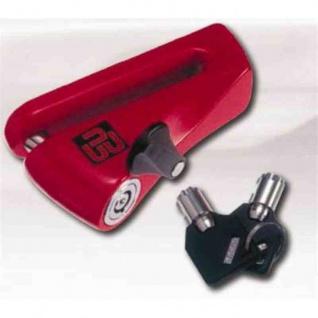 DISCK LOCKS Bremsscheibenschloss in Schuhform aus Zementstahl mit 2 Zylinderschlüsseln 94 x 8 mm D=10 mm