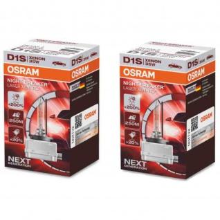 XENARC® NIGHT BREAKER® LASER +200% Stärkste OSRAM Xenonlampe D1S 12/24V PK32D-2 2Sück