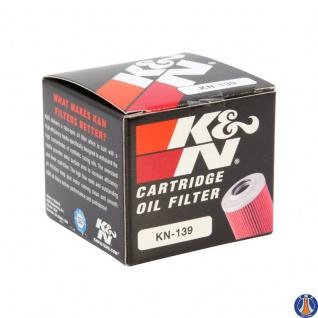 K&N Ölfilter KN-139 Arctic Cat Suzuki DR-Z400 S LT-Z 250 - 400 Kawasaki 52010-S004 16510-29F00 3470-008 - Vorschau 2
