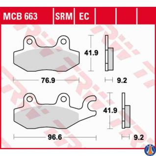 MCB663SRM Bremsbelag Daelim Italjet Keeway Kymco Rex Suzuki