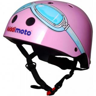 Kiddimoto Helm Goggle pink Größe M - 53-58 cm, geprüft nach EC EN1078