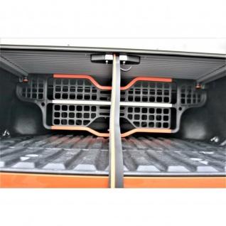 Laderaumabdeckung Roll Cap mit Trenngitter und Zentralverriegelung SET für VW Amarok Canyon Double Cab in Silber ab Baujahr 2010 - Vorschau 4
