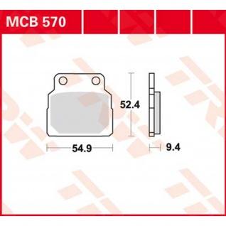 MCB570 Bremsbelag Honda 450 CB N PC14 86- vorne