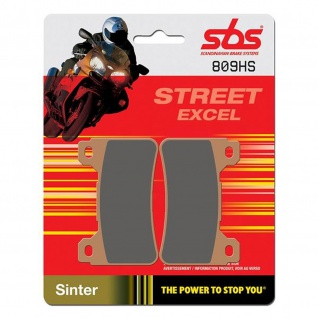 Bremsbelag SBS 809HS Streetexcel Sintermetall Honda CB R 1000 CBR RR 600 1000 Fireblade VFR F 800 Crossrunner