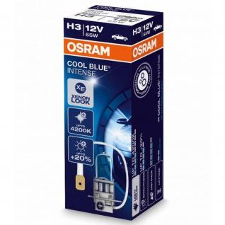 H3 12 Volt 55 Watt COOL Blue INTENSE 4200K H3 Faltschachtel 1Stk. Osram 64151CBI ECE Abblendlicht/Fernlicht/Nebellicht