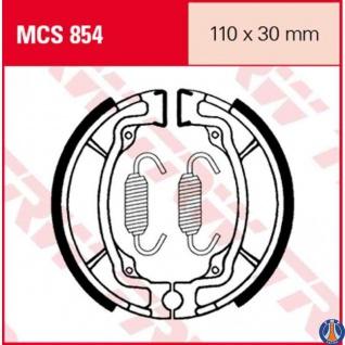 MCS854 Bremsbacken Maße: 110 x 30 Kawasaki AE50 AE80 Suzuki AP50 DRZ 110 GT 80 RV 125 RV 90 TS 50 TS 125