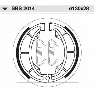 Bremsbacke SBS 2014 Maße: 130 x 28 Hyosung Kawasaki Suzuki