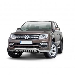 Frontschutzbügel mit unterer Grillplatte für VW Amarok V6 ab Baujahr 2016