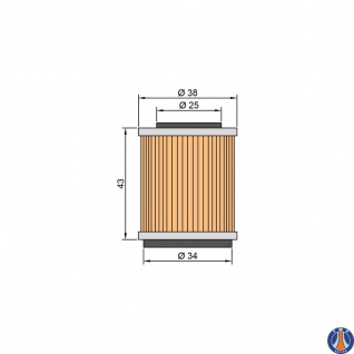 TWIN AIR Oilfilter Yamaha TTR225/YFM200/250