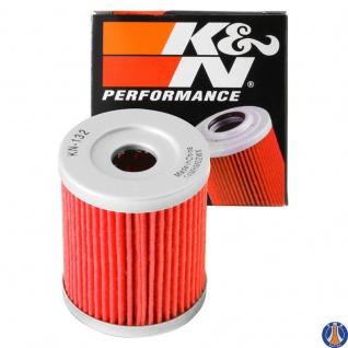 K&N Ölfilter KN-132 Artic Cat Kawasaki Suzuki Beta Sym Yamaha 3436-005 52010-S002 16510-19B00 16510-24501 5RU-13440-00 15400-L4A-000