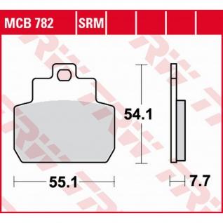 MCB782SRM Bremsbelag Piaggio 125 MP3 125 150 250 400 X8 05-08 Vespa GTS 05-12