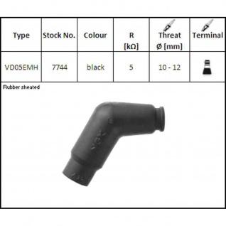 NGK7744 VD05EMH Zündkerzenstecker 120 Grad, Farbe schwarz 5 Kilo Ohm 10mm 12mm